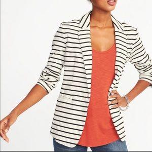 OLD NAVY || Classic Striped Knit Blazer